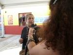 Les explications de Sandrine Cathebard de la Fiesta