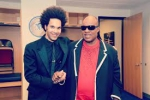 Scott Tixier et Stevie Wonder